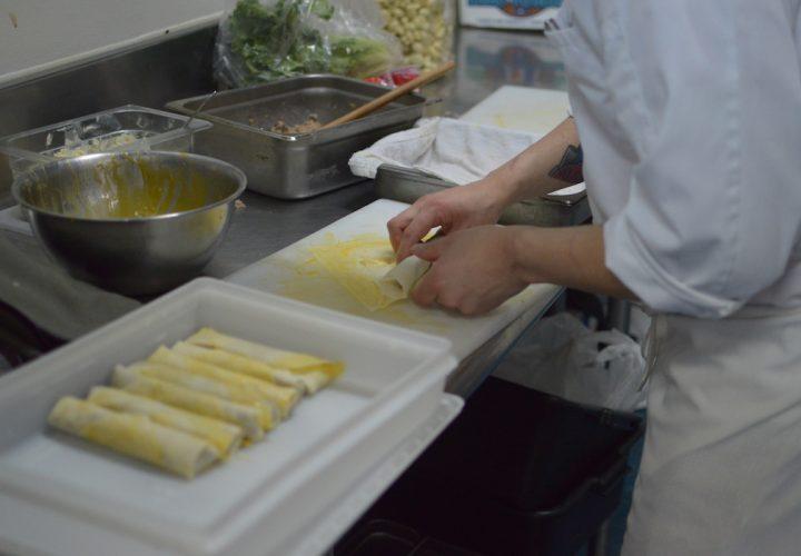 A Chef Prepares a Bon Voyage Dish